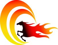 Jumping fire horse Royalty Free Stock Photos