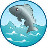 Jumping Fish. An illustration of a fish jumping out of the water Royalty Free Stock Photos