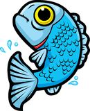 Jumping Fish. A blue fish jumping out of the water Stock Photo