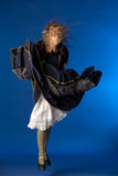 Jumping flamenco girl Stock Photography