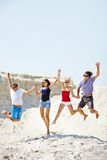 Jumping friends Royalty Free Stock Image