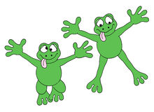 Jumping frogs Royalty Free Stock Photography