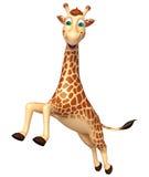 Jumping Giraffe cartoon character Royalty Free Stock Photos