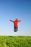 The jumping girl Royalty Free Stock Photo