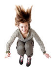 Jumping girl Stock Images