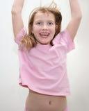 Jumping girl Royalty Free Stock Image