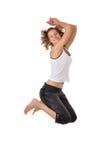 Jumping girl Stock Photo