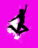 Jumping girl. Vector illustration of a jumping girl Royalty Free Stock Photos