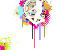 Jumping girl on abstract background. Illustration of a jumping girl on a abstract background Stock Image