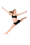 Jumping girl dancer Royalty Free Stock Image