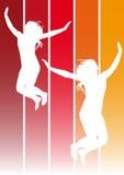 Jumping girls 1 Stock Photos