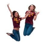 Jumping Girls Stock Photography