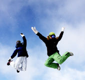 Jumping Girls Royalty Free Stock Images