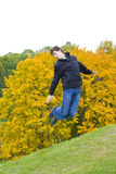 Jumping guy Stock Image