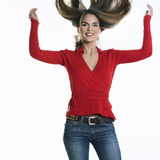 Jumping hair Royalty Free Stock Photos
