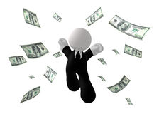 Jumping happy businessman icon Stock Photo