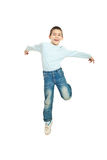 Jumping happy  kid boy Stock Image