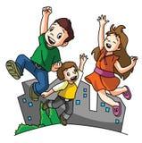 Jumping Happy Kids vector illustration