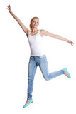 Jumping happy teen girl Royalty Free Stock Image