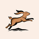 Jumping Hare Vector Royalty Free Stock Photography