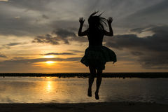 Jumping  have  to so fun. Jumping  have to  so fun Royalty Free Stock Images