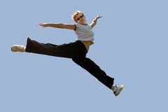 Jumping high Royalty Free Stock Photography
