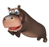 Jumping Hippo cartoon character Royalty Free Stock Photos
