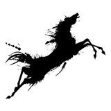 Jumping horse silhouette Royalty Free Stock Image