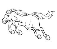 Jumping Horse Vector Illustration Royalty Free Stock Photo