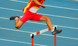 Jumping hurdles Stock Photo