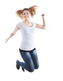 Jumping because i am so happy Stock Photo