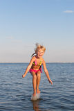 Jumping In The Water Child Royalty Free Stock Image