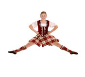 Jumping Irish Dancer Stock Photos