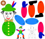 Jumping jack puppet Royalty Free Stock Images