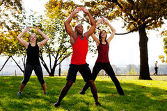 Jumping Jacks Royalty Free Stock Photos