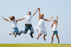 Jumping of joy Royalty Free Stock Photos