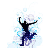 Jumping for joy stock illustration