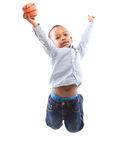 Jumping in joy Royalty Free Stock Photography