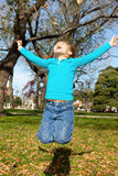 Jumping for joy Royalty Free Stock Photos