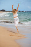 Jumping for Joy Royalty Free Stock Photography