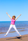 Jumping in joy Stock Photos
