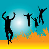 Jumping for joy Royalty Free Stock Photo