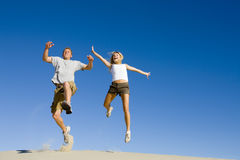 Jumping With Joy Royalty Free Stock Image