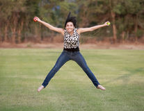 Jumping for Joy about Back to School Royalty Free Stock Images