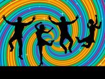 Jumping Joy Indicates Activity Wave And Swirl Royalty Free Stock Photo