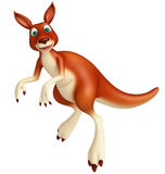Jumping Kangaroo cartoon character Stock Images