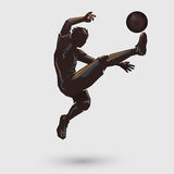 Jumping kick retro color Royalty Free Stock Photos