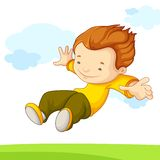 Jumping Kid Royalty Free Stock Photography
