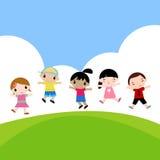 Jumping kids Royalty Free Stock Photos