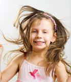 Jumping little girl. Royalty Free Stock Photo